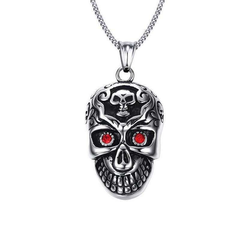 Gothic Skull Necklace - Skullflow