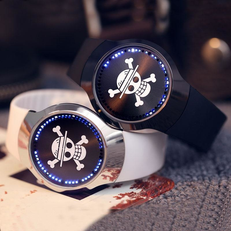 Cool LED Touch Screen Skull Sports Wristwatch - Skullflow
