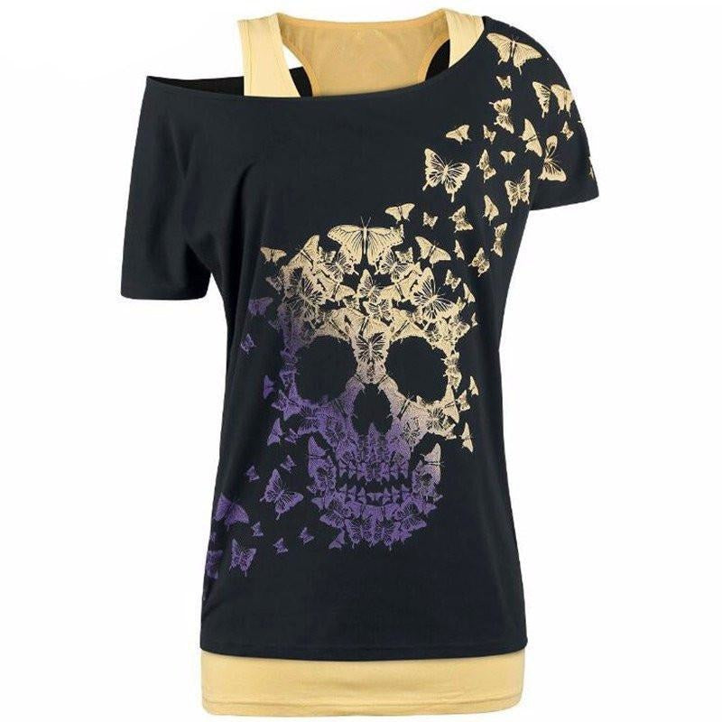 Women Skull head T-Shirt - Skullflow