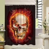 3d Skull Shower Curtain - Skullflow