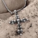 Vintage Skull Cross Necklace - Skullflow