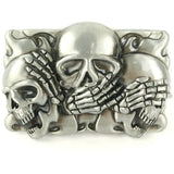 Punk Skull Head Metal Buckle PU Leather Belt - Skullflow