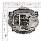 Tattoo Your Soul Skull Head Belt Buckle - Skullflow