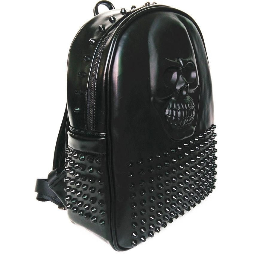 Hiphop Cool 3D Skull Leather Backpack - Skullflow