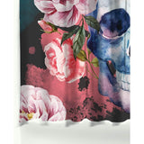 Flower Sugar Skull Shower Curtain - Skullflow
