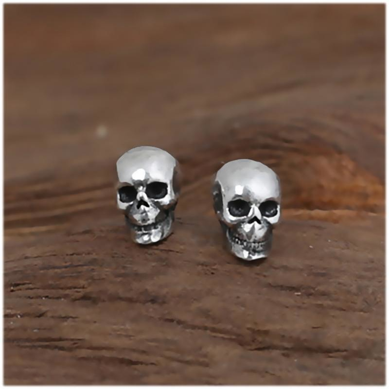 Small Rock Punk Skull Earrings - Skullflow