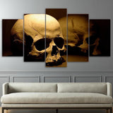 5 Pieces Human Skeleton Skull Canvas Wall Art - Skullflow