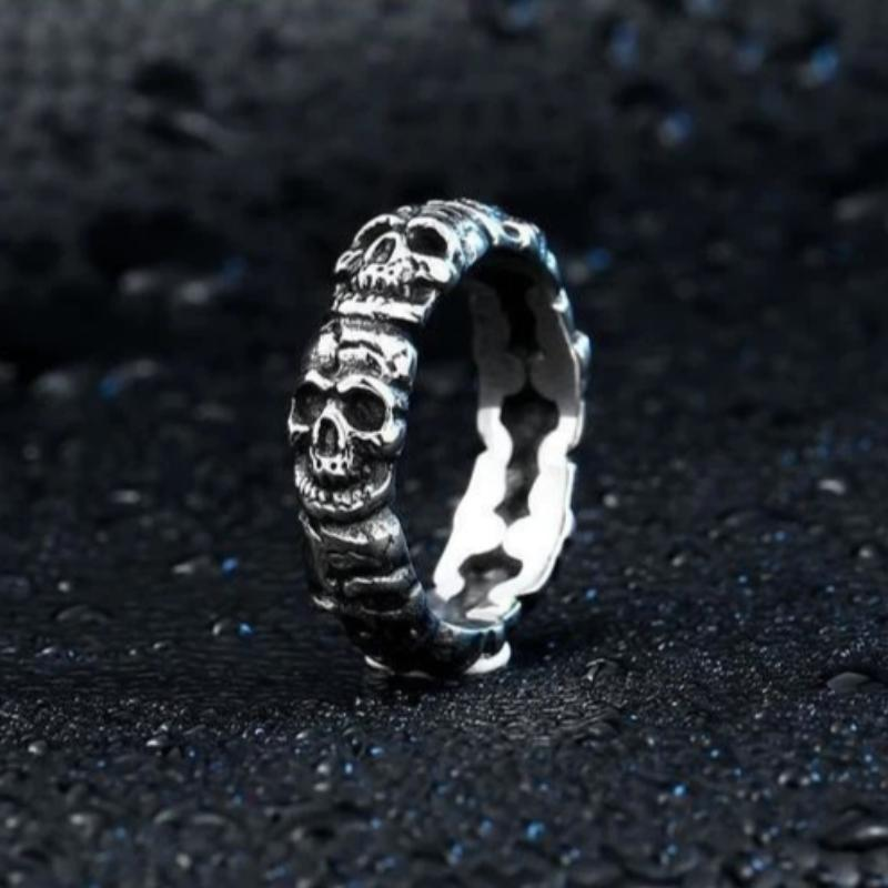 Punk Cycle Skull Ring - Skullflow
