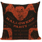 Halloween Skull Throw Pillow Cover - Skullflow