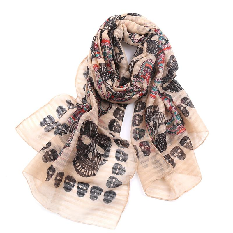 Ghosts Classic Skull Head Seaside Shawl Scarf - Skullflow