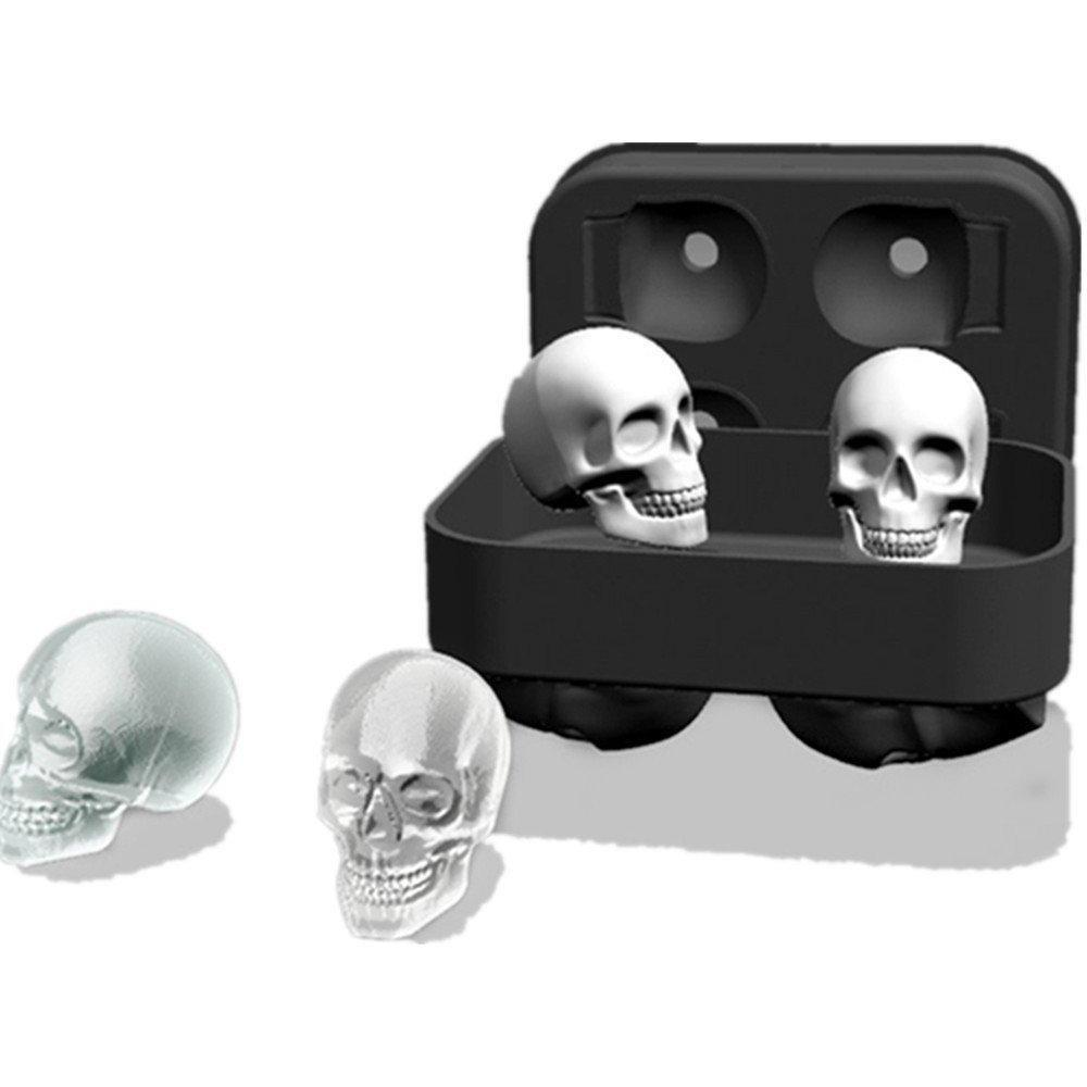 3D Skull Silicone Ice Cube Tray Mold - Skullflow