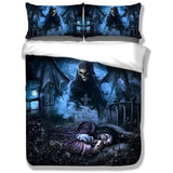 Nightmare Skull Bedding Set - Skullflow