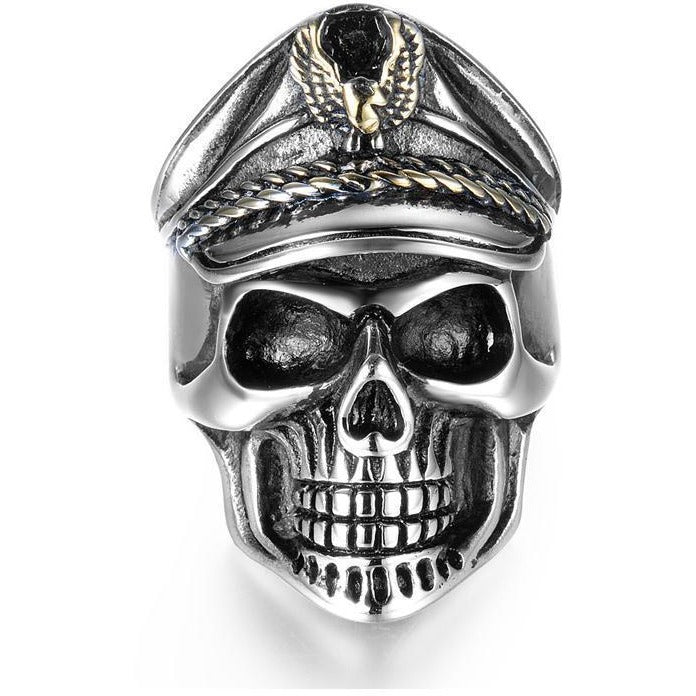 Officer Skull Titanium Rings - Skullflow