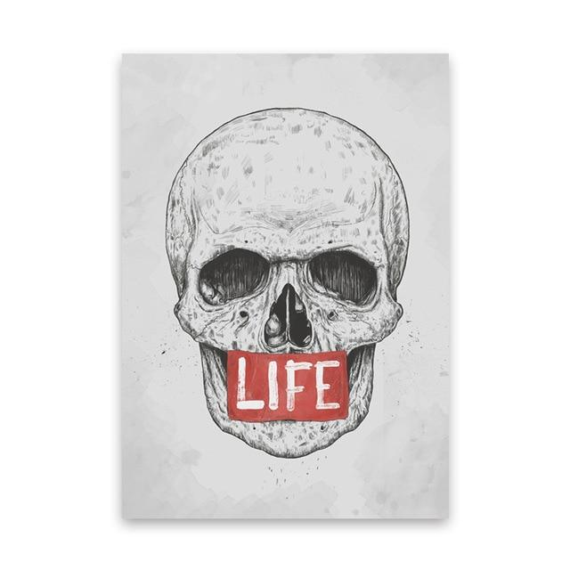 Modern Skull Oil Painting Wall Decor - Skullflow