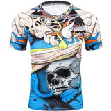Cool Skull Compression Fitness T-Shirt - Skullflow