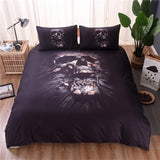 Skull Bedding Set 3D Black - Skullflow