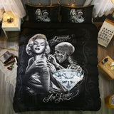 3D Marilyn Monroe Skull Bedding Set - Skullflow