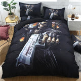 Black Bad Ass 3D Skull Bedding Sets - Skullflow