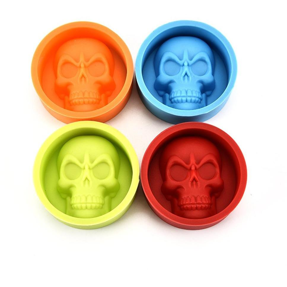 Mini Skull Muffin Cup Silicone Non Stick Baking Molds - Skullflow