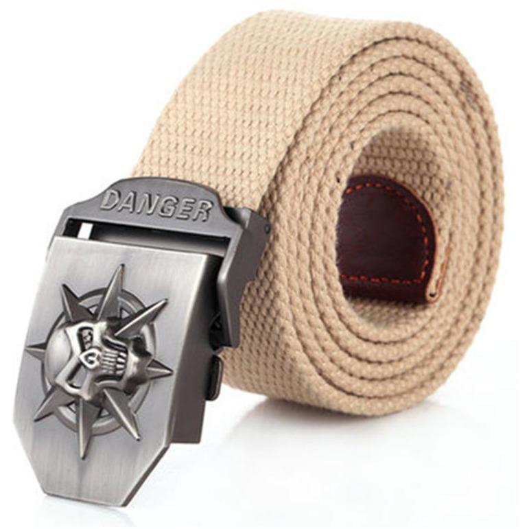 Skull Metal Skull Metal Canvas Belt - Skullflow