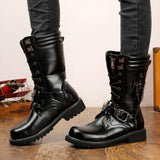 Army Chain Military Combat Boots Skull - Skullflow