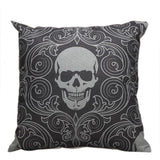Skull Print Pillow Case - Skullflow