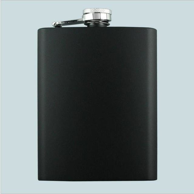 8OZ Elvis Skull Godfather Stainless Steel Black Flask - Skullflow