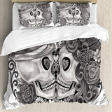 3D Sugar Skull Couple in Love Bedding Set - Skullflow