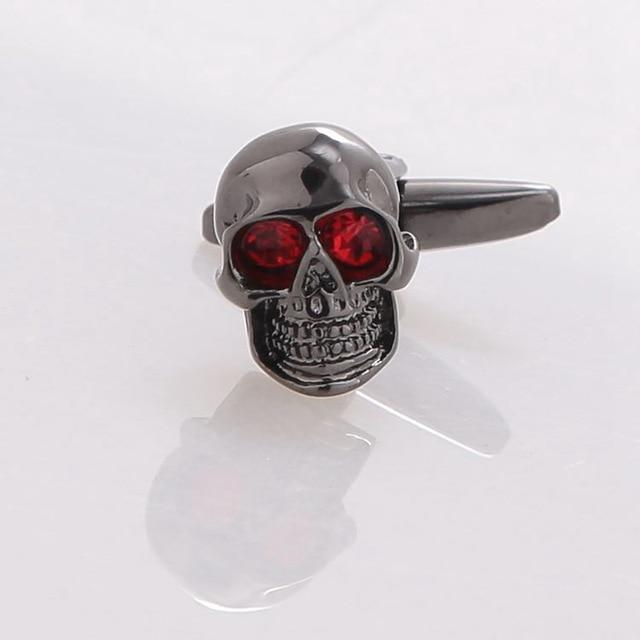 Copper Skull Head Cufflinks - Skullflow