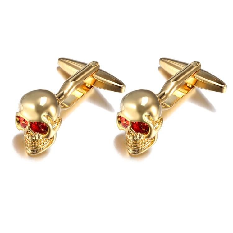 Copper Skull Head Cufflinks