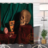 Skull Print Shower Curtain - Skullflow