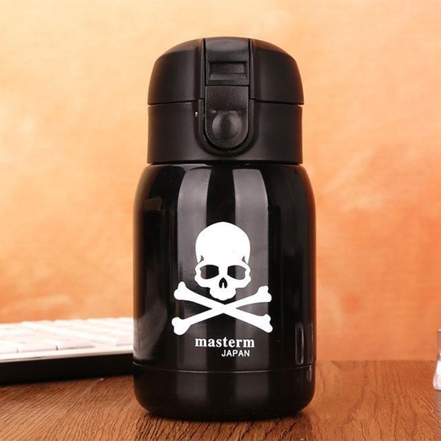 180mL Stainless Steel Skull Vacuum Cup Mini Thermos Tumbler