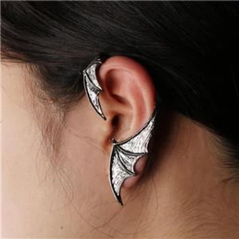 Gothic Bat Wing Left Earring - Skullflow