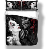 Skull And Beauty Bedding Set - Skullflow