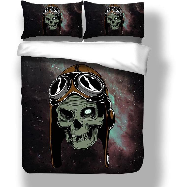 Death's Head Skull Bedding Set - Skullflow