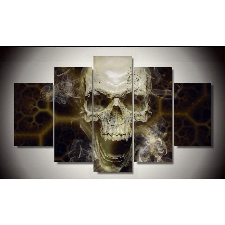 5 Piece Skull By Numbers Fallout Picture Painting Wall Art - Skullflow