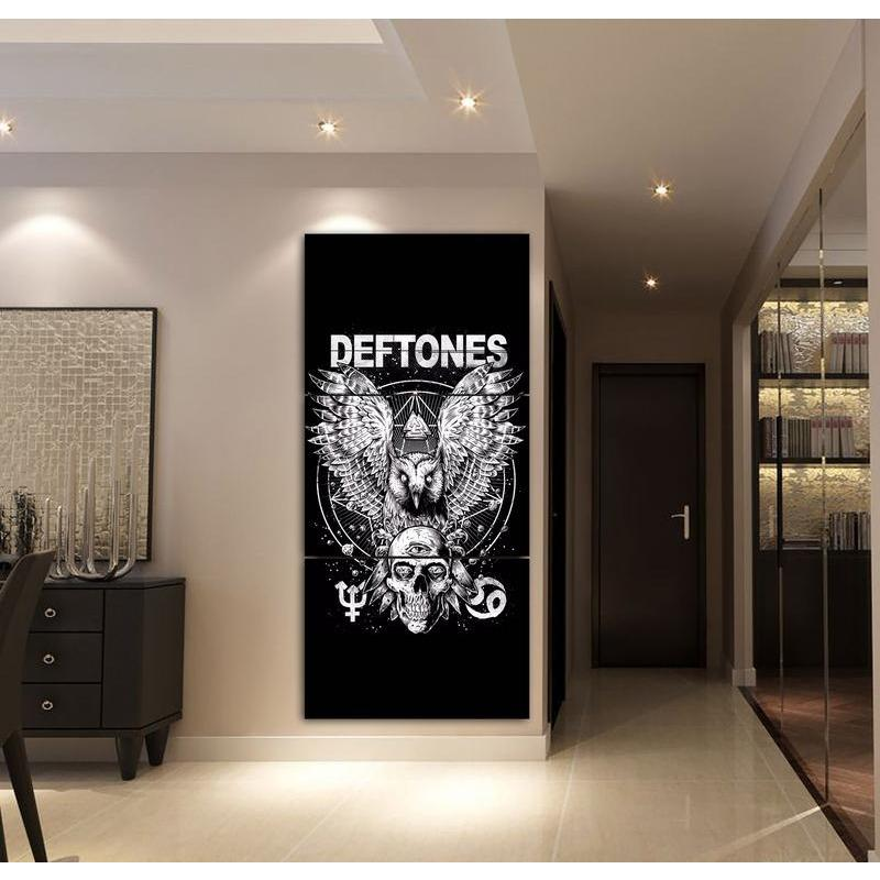 3 Pieces Deftones Eagle and Skull Poster Wall Art Painting - Skullflow