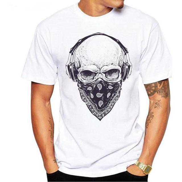Skull Headphones Short Sleeve Tee - Skullflow