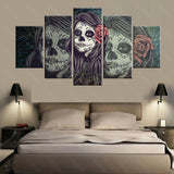 Day of the Dead Face Skull Wall Art - Skullflow