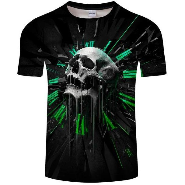 Skull Printed 3D Men T Shirt - Skullflow