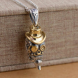 Skull with Hat Pendant Necklace - Skullflow