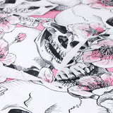 Sugar Skull Bedding Set Cherry Blossoms Pink Floral - Skullflow