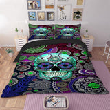 3D Skull USA Cool Bedding Set - Skullflow