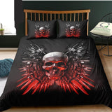 3D Duvet Cover Skull Bedding Black - Skullflow