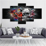 5 Pieces Abstract Art Skull Wall Art - Skullflow