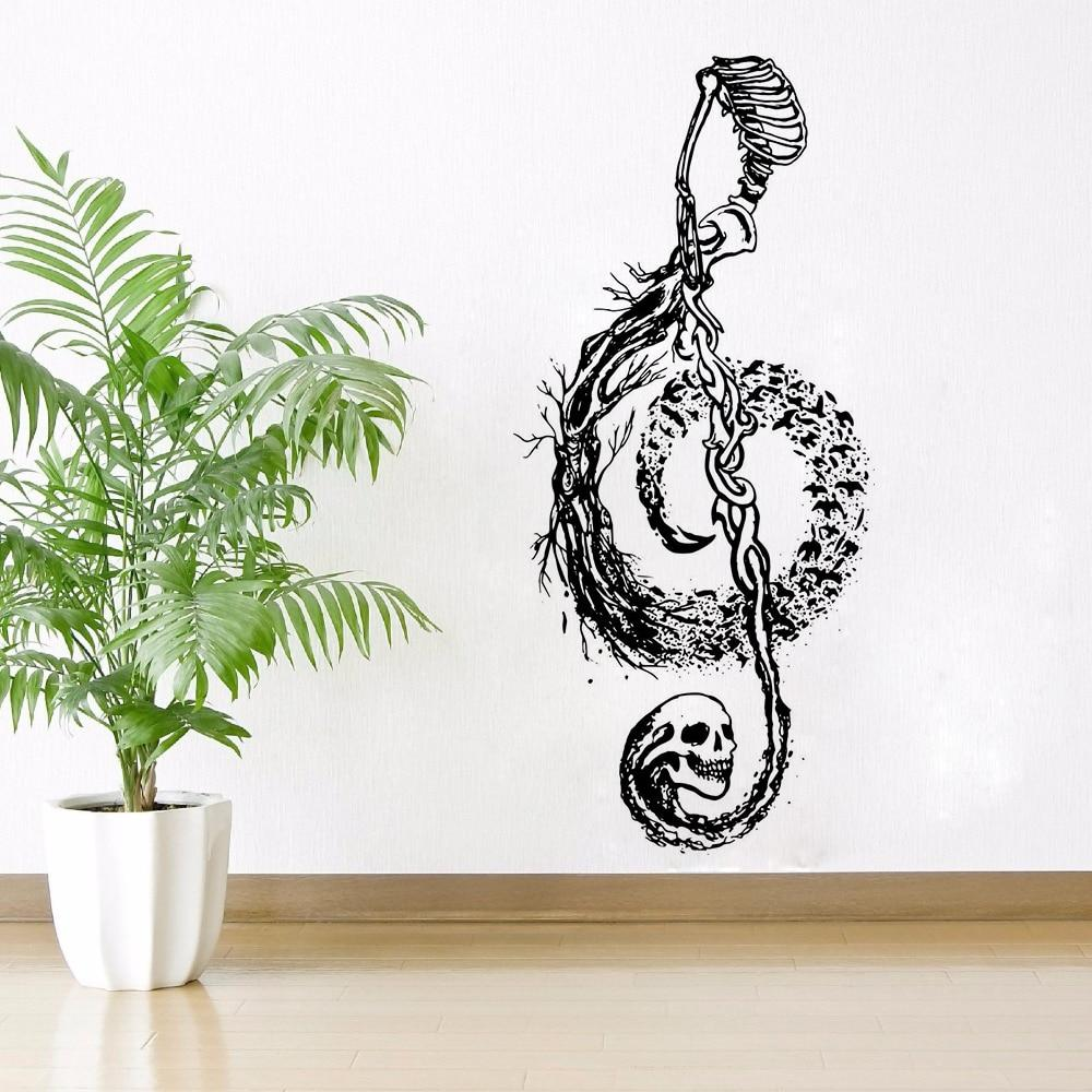 Skull Music Note Wall Sticker Home Decoration