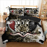 Skull Couple Bedding Set Duvet Cover - Skullflow