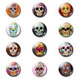 12pcs Cartoon Skull 25 MM Magnetic Refrigerator - Skullflow