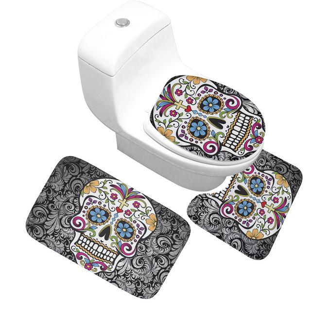 Skull Bathroom Mats 3pcs/set - Skullflow