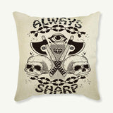 Pillowcase Punk Black Skull Cushion Cover - Skullflow